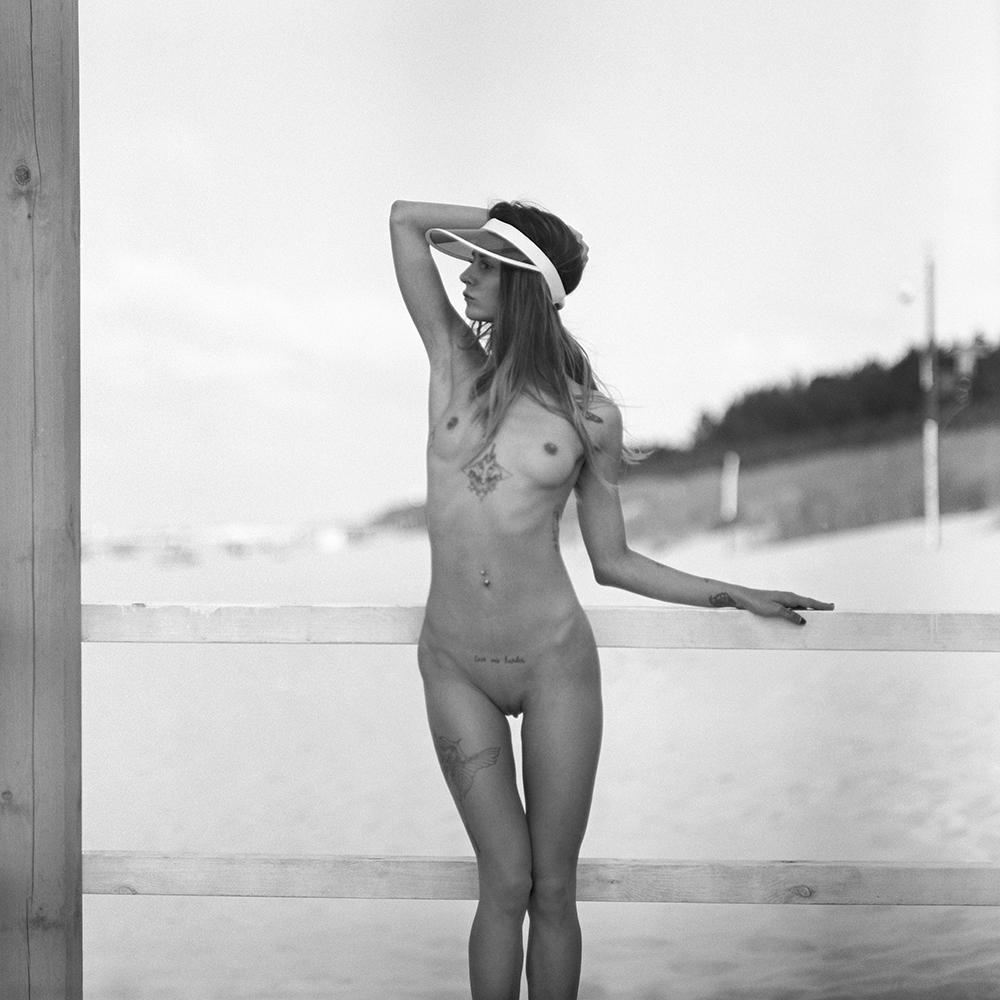 polska, baltyk, analog, Pentacon Six, modelka, Ninoveron, portret, topless, akt, act, nude, morze, sea, Adelle Unicorn, adelle bednářová, czeszka, plener