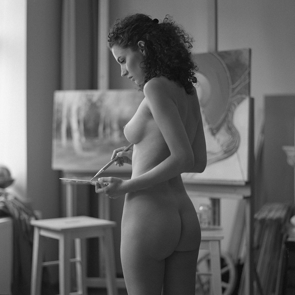 polska, analog, hasselblad 203FE, modelka, Ninoveron, akt, nude, pracownia malarska, Aga, Agnieszka G, Ferociouss24, women, 6x6