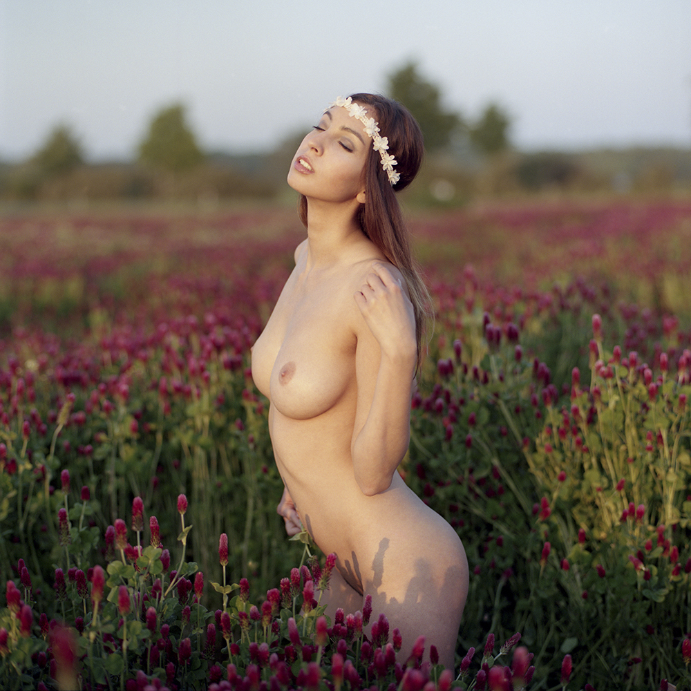 czechy, kwiaty, analog, hasselblad 203FE, modelka, Ninoveron, akt, nude, Daria, Daruszka, plener