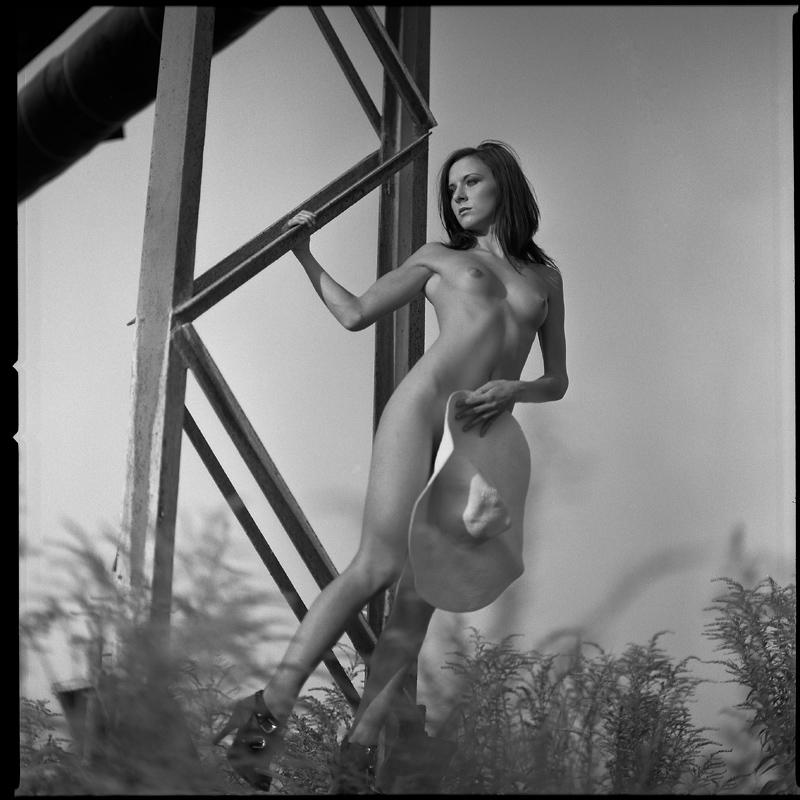 analog, Ewelina, Hasselblad 203FE, modelka, akt, nude, plener, becapri