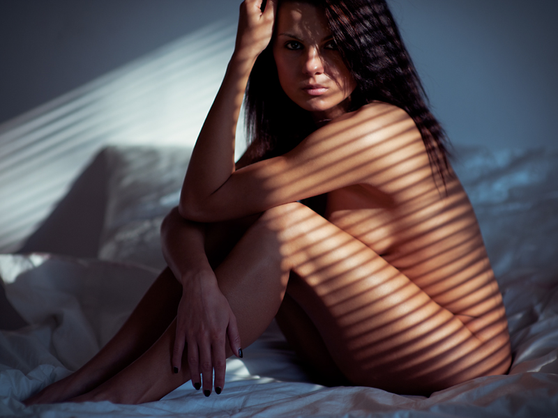 Weronika, generalowa, akt, nude, topless, studio, modelka