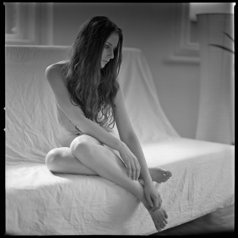 akt, nude, analog, hasselblad 203FE, Marta, modelka, Ninoveron