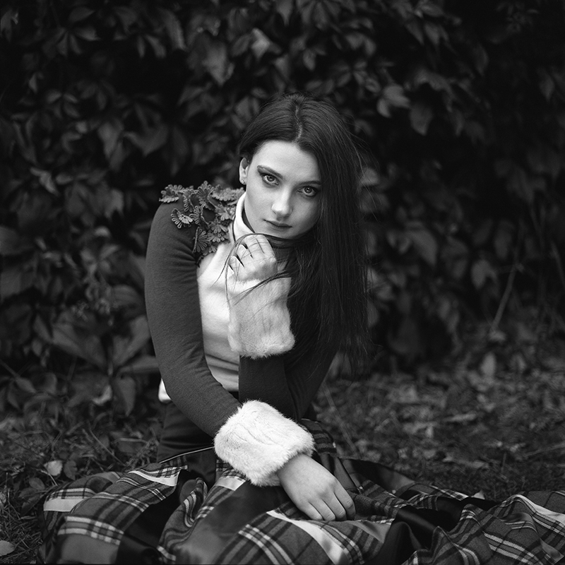 polska, analog, hasselblad 203FE, modelka, Ninoveron, portret, Martyna Mietlicka, Baborówko
