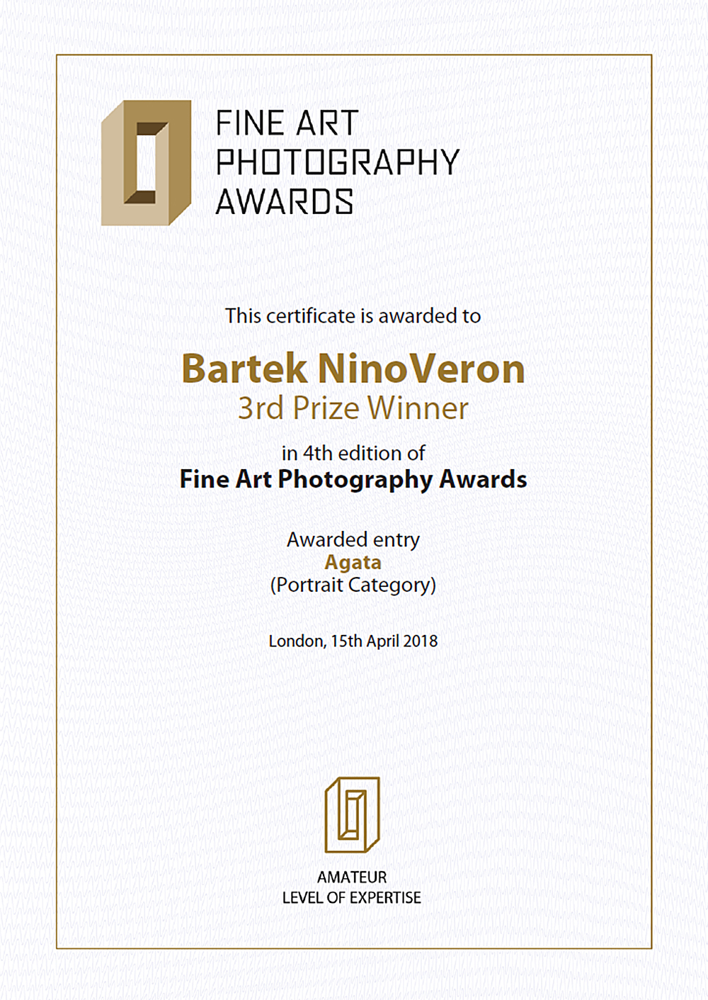 akt, nude, nagroda, konkurs, Fine Art Photography Awards, www.fineartphotoawards.com, ninoveron, Agata