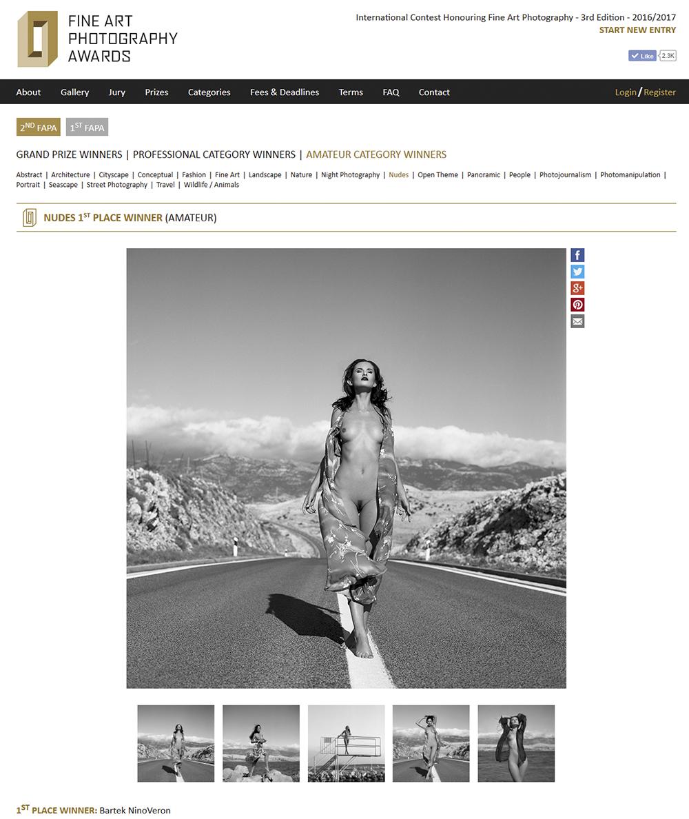 akt, nude, nagroda, konkurs, Fine Art Photography Awards, www.fineartphotoawards.com, ninoveron, enigma, chorwacja, wakacje, croatia