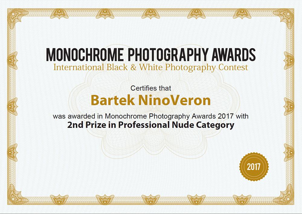 akt, nude, nagroda, konkurs, Monochrome Awards, www.monooawards.com, ninoveron, Marta, Enigma