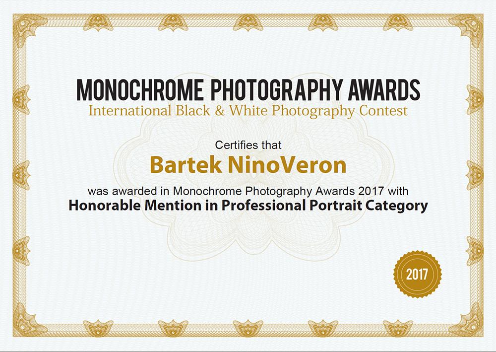portret, portrait, nagroda, konkurs, Monochrome Awards, www.monooawards.com, ninoveron, Edyta