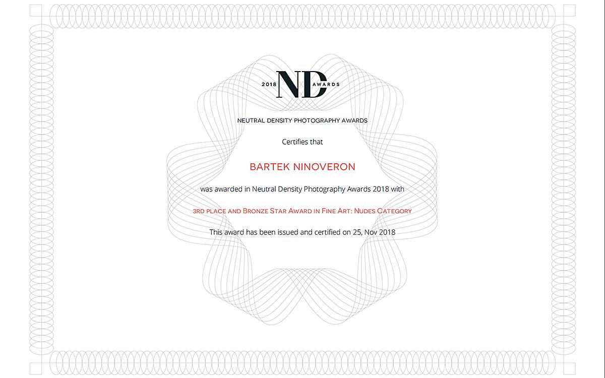 akt, nude, nagroda, konkurs, ND Awards, www.ndawards.net, ninoveron, Michaela