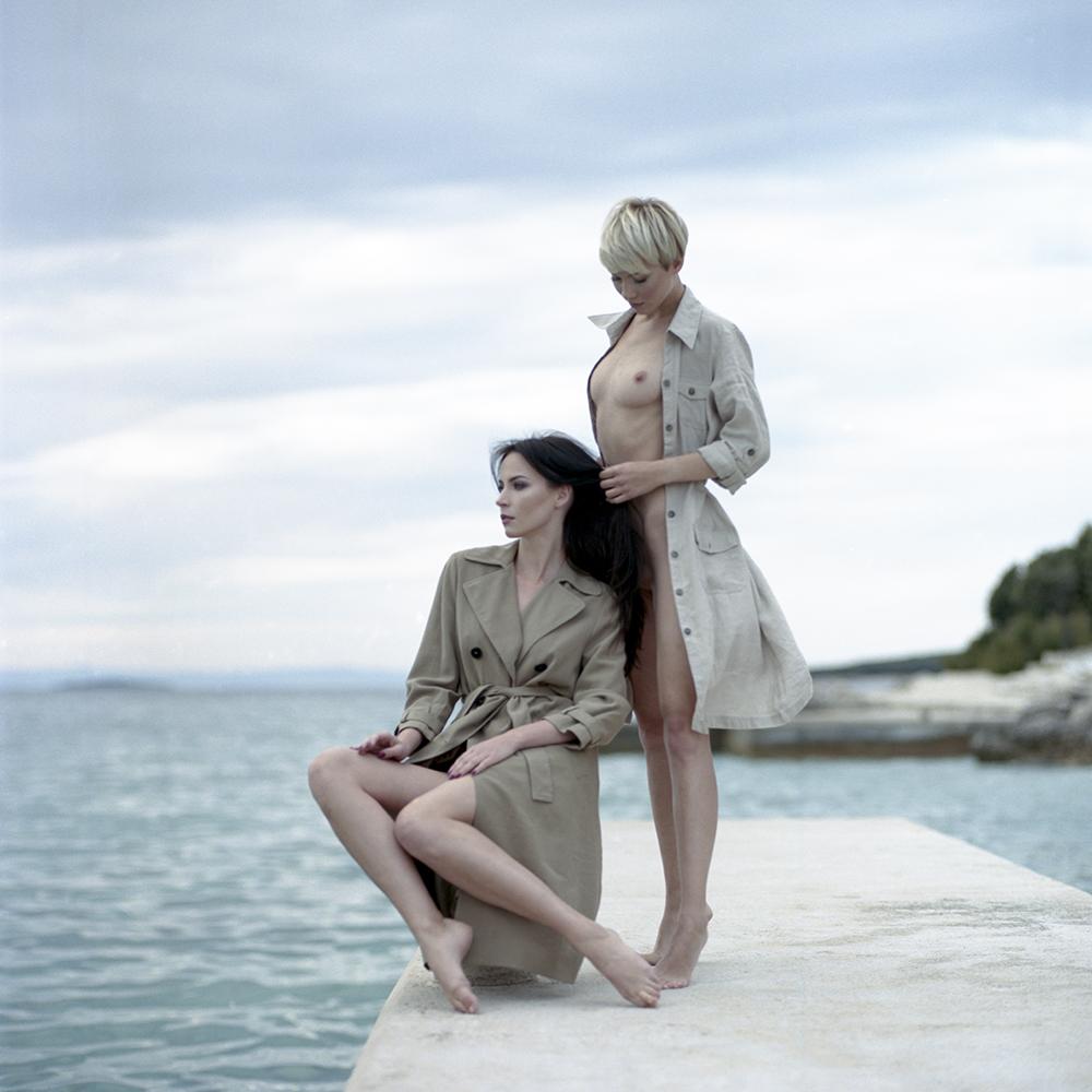 croatia, chorwacja, analog, hasselblad 203FE, modelka, Ninoveron, akt, nude, plaża, plener, Ula, Magda, Bronx